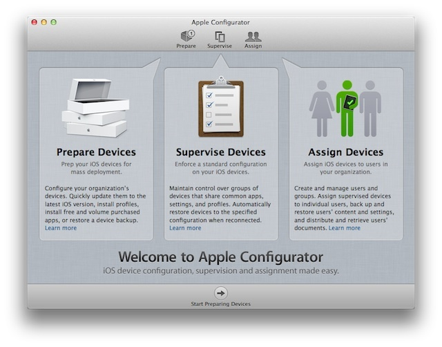 Apple Configurator Interface