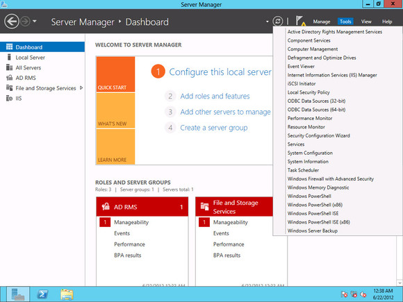 Windows Server 2012 Server Manager