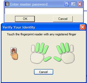 FingerPrint Password Minder