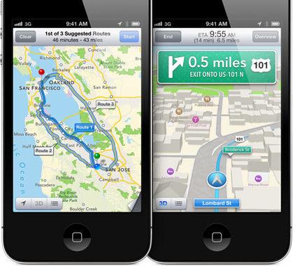 iOS 6 Maps Turn by Turn