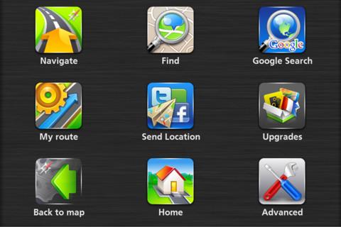 NAVFree iPhone Interface