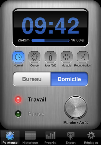 Application Pointeuse Iphone