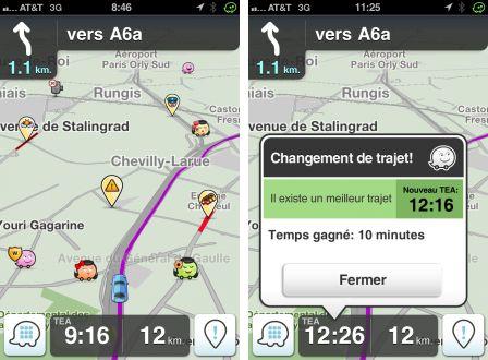 Waze iPhone Interface