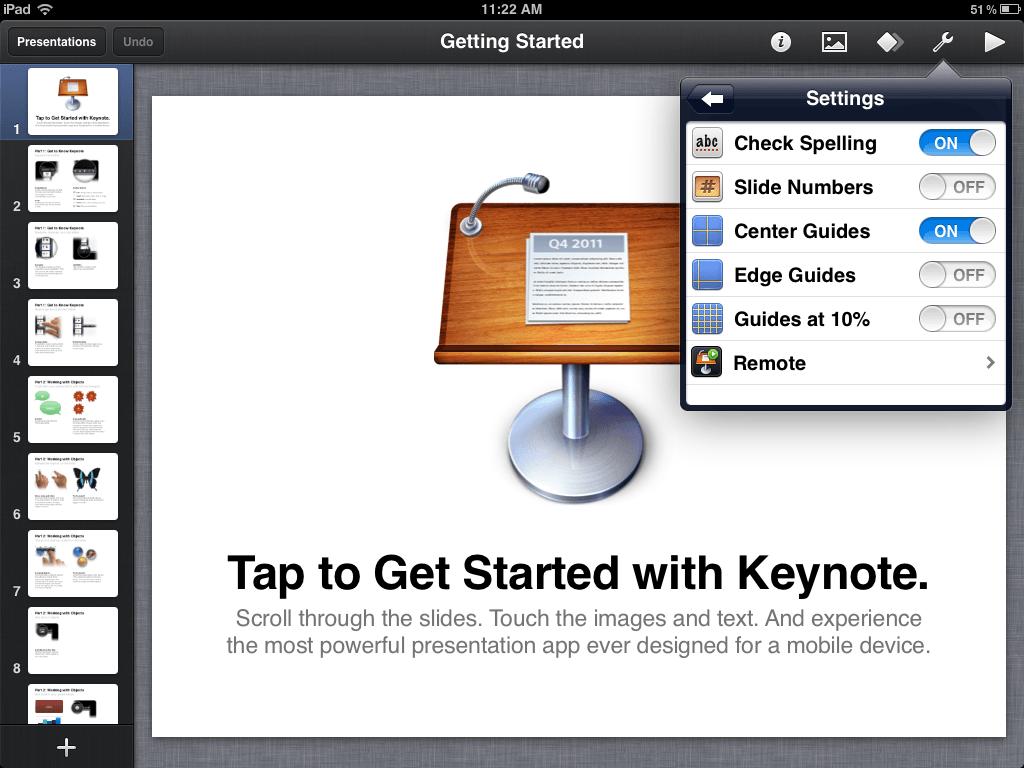 Apple Keynote App