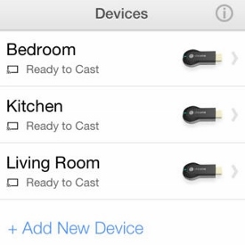 Google Chromecast Devices List