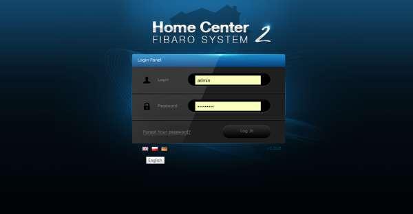 fibaro home center login