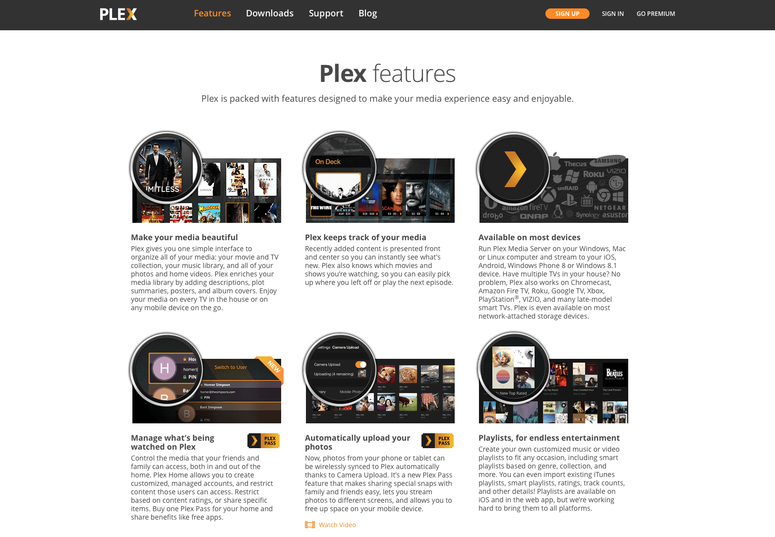 Plex PlexPass features